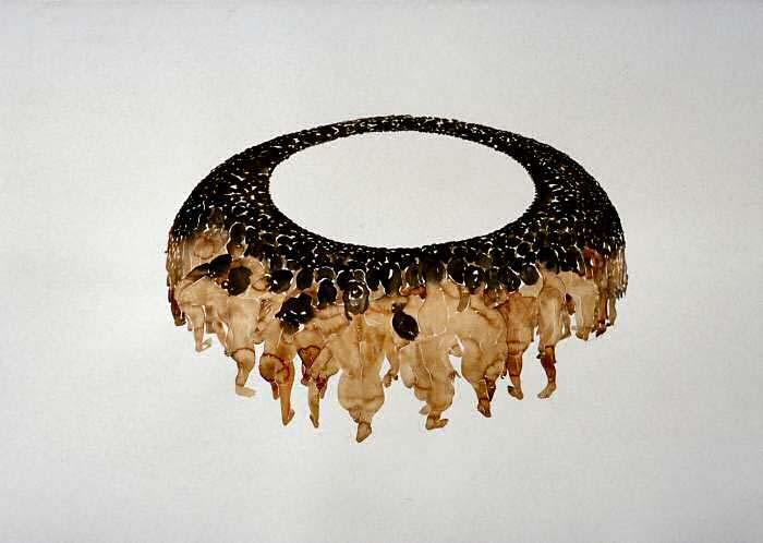 Jaco's Ring: aquarel, 100x140 cm, 2003, Coll. Loose, Amsterdam
