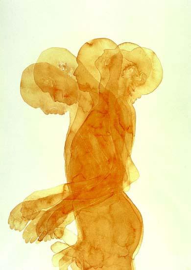 Soulmade: aquarel, 2004, 70 x 50 cm, Coll. AMC, Amsterdam