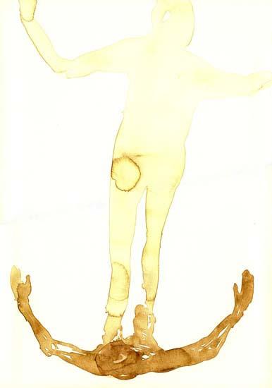 Studie van de schaduw: aquarel, 50x35 cm , 1995, Coll. Meester, Amsterdam