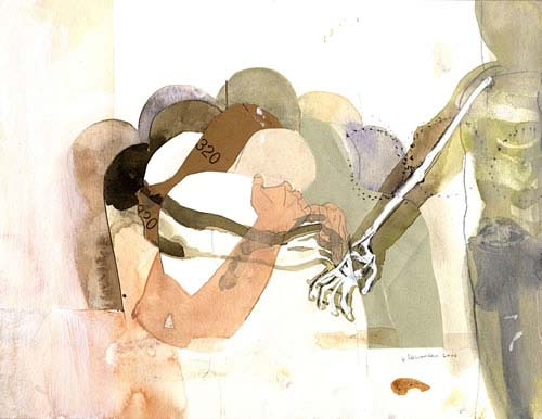 A Necessary Man II, collage, 25x 35 cm, 2006, Coll. Obertop, Amsterdam